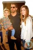 Alizee Guinochet, David Blaine with their daughter Dessa NYC