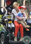 Amy Poehler Takes Her Sons To A Costume Party