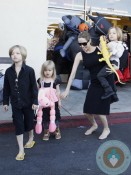 Angelina Jolie out Halloween shopping with her kids Shiloh, Vivienne and Knox in LA
