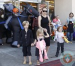 Angelina Jolie out shopping with her kids Shiloh, Vivienne & Knox in LA