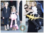 Angelina Jolie out shopping with her kids Shiloh, Vivienne and Knox in LA