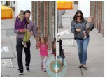 Ben affleck and Jennifer Garner with their kids Seraphina, Violet and Samuel