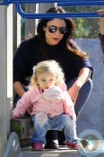 Bethenny Frankel and daughter Bryn Hoppy at the Park
