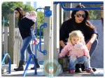 Bethenny Frankel with daughter Bryn Hoppy Park