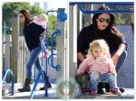 Bethenny Frankel with daughter Bryn Hoppy Park