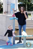 Bethenny Frankel with daughter Bryn Hoppy at the Park