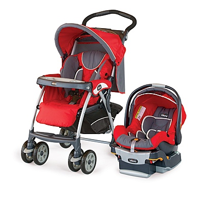 Chicco Cortina Travel System Stroller Fuego