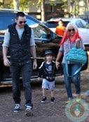 Christina Aguilera, Matt Rutler with son Max Bratman at the pumpkin patch 2012