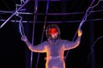 David Blaine during his 'Electrified' performans at Pier 94 Manhattan, NY