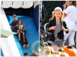 Heidi Klum at the pumpkin patch with her kids