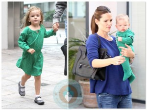 Jennifer Garner out at the doctors with daughter Seraphina and son Samuel