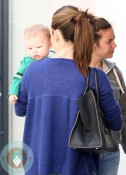 Jennifer Garner out at the doctors with son Samuel
