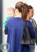 Jennifer Garner out at the doctors with son Samuel