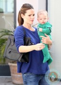 Jennifer Garner out at the doctors with son Samuel Affleck