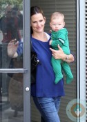 Jennifer Garner visits the doctors with son Samuel Affleck