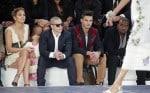 Jennifer Lopez, Emme Anthony, Casper Smart at the Chanel Spring:Summer 2013 show