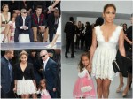 Jennifer Lopez, Emme Anthony, Casper Smart at the Chanel Spring:Summer 2013 show Paris