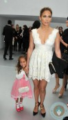 Jennifer Lopez & Emme Anthony at the Chanel Spring-Summer 2013 show Paris