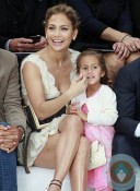 Jennifer Lopez, Emme Anthony at the Chanel Spring-Summer 2013 show Paris