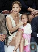Jennifer Lopez, Emme Anthony at the Chanel Spring-Summer 2013 show Paris