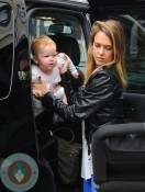 Jessica Alba out with daughter Haven in NYC