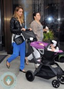 Jessica Alba with daughter Haven Warren out in NYC