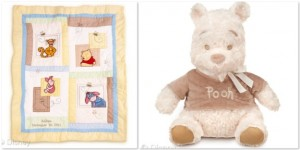 Large Heirloom Winnie the Pooh Plush Toy and blanket