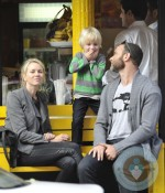 Liev Schreiber, Naomi Watts with their son Samuel in NYC