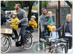 Liev Schreiber and Naomi Watts with sons Sammy and Sacha in NYC