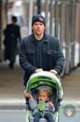 Matt Damon in NYC with daughter Stella