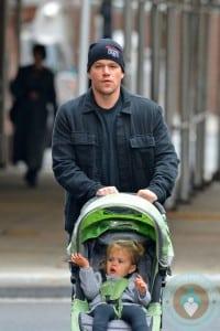 Matt Damon in NYC with daughter Stella