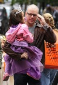 Matt Damon with daughter Gia Halloween