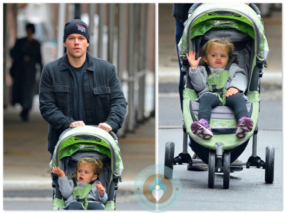 Matt Damon With Daughter Stella Out In Nyc Growing Your Baby