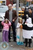 Matt Damon with wife Luciana and daughters Isabella and Gia Halloween