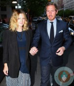 Pregnant Drew Barrymore with Will Kopelman