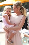 Rebecca Romijn with her daughter at the Veuve Clicquot Polo Classic