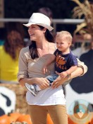 Selma Blair & son Arthur Bleick at the pumpkin patch 2012