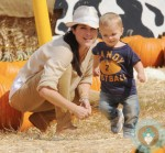 Selma Blair with son Arthur Bleick at the pumpkin patch 2012
