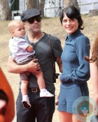 Selma Blair with son Arthur at the Veuve Clicquot Polo Classic