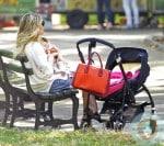 Sienna Miller cuddles daughter Marlowe