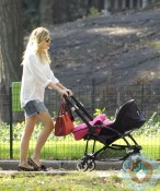 Sienna Miller out in Central Park with daughter Marlowe