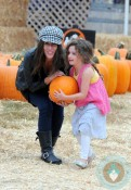Soleil Moon Frye with daughter Jagger at Pumpkin Patch 2012