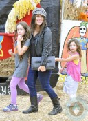 Soleil Moon Frye with daughters Jagger and Poet, Mr