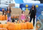 Soleil Moon Frye with daughters Jagger and Poet at the Pumpkin Patch 2012