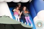 Soleil Moon Frye with daughters Jagger and Poet skeleton slide, Mr bones 2012