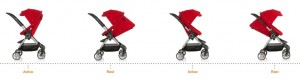 Stokke Scoot seat positions