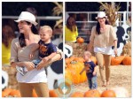 selma Blair and son Arthur Bleick at the pumpkin patch 2012