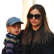 Miranda Kerr Steps Out With Flynn in NYC