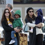 Mom Meet Up! Sandra Bullock & Camila Alves Hang Out With Their Kids in New Orleans