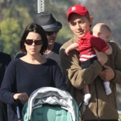 Neve Campbell & J.J. Feild Step Out With Baby Caspian